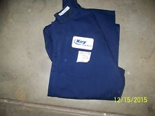 FIRE RESISTANT COVERALLS; 100% NOMEX;SIZE 42L X 29; LONG SLEEVES; PREOWNED