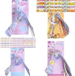 Sanrio Lucky Star Origami Paper Wishing Folding Ribbon Sheet 60 Strips 6 Colors