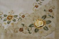 Embroidered Lace Scarf Placemat Tablecloth Runner Wedding Party Thanksgiving
