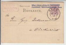 Echte Briefmarken-Ganzsachen aus dem deutschen Reich (1875-1899)