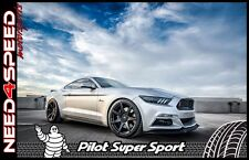 """19"""" Project 6GR Black Wheels & Tires Michelin Pilot SS for Mustang S550 S197 GT"""