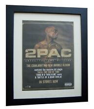 2PAC+Until The End Of Time+POSTER+AD+RARE ORIGINAL 2001+FRAMED+FAST GLOBAL SHIP
