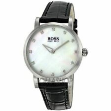 Hugo Boss 1502027 Pearl Round Face Genuine Leather Belt Watch