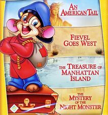 4 American Tail G animated movies, new DVD set Fievel Goes West Treasure Mystery