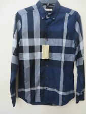 BURBERRY Men's Nelson INK Cotton Plaid Check Long Sleeve Size S MSRP $ 295