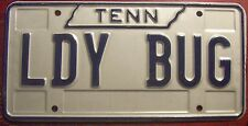 1990s TENNESSEE VANITY PERSONALIZED LICENSE PLATE LADY BUG VOLKSWAGEN BEETLE CAR