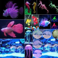 Aquarium Fish Tank Artificial Fake Coral Plant Jellyfish Ornament Landscape Deco