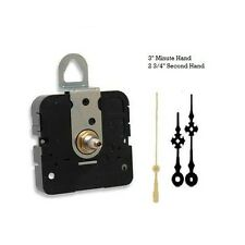 """Clock Movement Quartz Mechanism With 3"""" maltese hands for up to 3/8"""" thick dial"""
