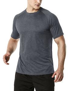 TSLA Men's Rashguard Swim Shirts, UPF 50+ Loose-Fit Short Sleeve Shirt