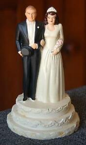 CHARMING CIRCA 1940 COAST NOVELTY BRIDE GROOM WEDDING CAKE TOPPER