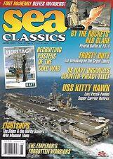 Sea Classics magazine USS Kitty Hawk Recruiting war posters US Navy fleet 1814