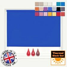 ROLLER BLINDS BLACKOUT CUSTOM HAND MADE TO MEASURE 100% THERMAL BLACKOUT