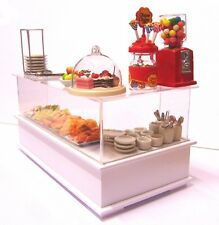 1:12 Scale White Complete Ready To Go Snack Bar Tumdee Dolls House Miniature
