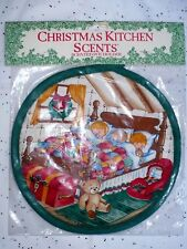 VINTAGE CHRISTMAS KITCHEN SCENTS SLEEPING KIDS IN BED SCENE SEALED PKG