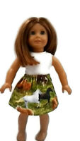 "Horse Skirt White Tank Top fits American Girl dolls 18"" Doll Clothes"