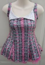 School Girl Pink Gray Plaid Dress Dance Costume Tap Jazz MT Medium Child MC 8 10