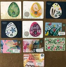 NEW TEN STARBUCKS EASTER EGG BUNNY RABBIT SPRING COFFEE GIFT CARDS FREE SHIPPIN
