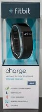 Fitbit FB404 Charge LARGE Wristband BLACK Wireless Sleep Activity Tracker NEW