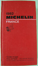 GUIDE MICHELIN FRANCE 1982 EN BON ETAT