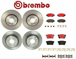 For Honda Accord '03-'07 Front & Rear Disc Brake Rotors Ceramic Pads Kit Brembo