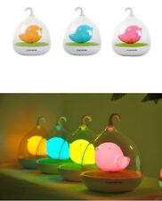 Jaula de Lámpara LED Lindo Sensor Táctil De Vibración Regulable sueño USB luz de noche