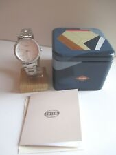 WOMEN'S FOSSIL NEELY STAINLESS STEEL ES4287 NEW W/TAGS IN BOX MSRP $115 + BONUS