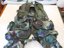 Tactical Load Bearing Vest Woodland with Pistol belt