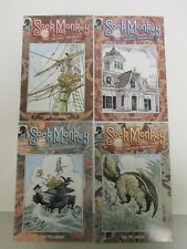 """SIGNED by Tony Millionaire! Lot of 4 """"Sock Monkey: Inches Incident"""" Comic Books"""