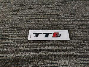 Gloss Black Audi TT S Emblem Badge OEM Style Size Rear Logo Replacement Decal