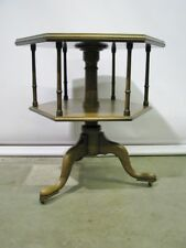 Vintage Kittinger Williamsburg Mahogany Revolving Book Table; CW161; Mint