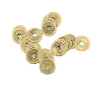 20x Feng Shui Münzen 2,3 cm Lucky Chinese Fortune Coin I Ching Geld Alloy Hot