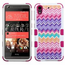 For HTC Desire 626S / 626 Hybrid Pink Wave Camo Tuff Hard Protective Case Cover