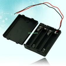 Black 4 AAA Battery Holder Box Case With Switch EE4070 5755632
