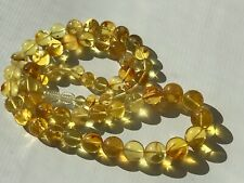 Natural Vintage Amber Beads Antique Baltic Old Necklace 33,0 gr.