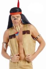 Chaleco para disfraz indio o vaquero marron