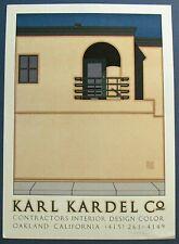 Vtg. 1984 Orig. Ltd. Ed. Pencil Signed & Numbered Poster by David Lance Goines