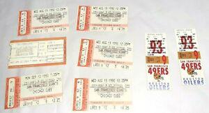 FREE SHIP 6 San Francisco Giants MLB ticket stubs 1989 - 1993 - two 49ers stubs
