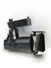 Elco Et547B Low Voltage Pinch Back Barn Door Track Light Fixture Black 12V 50W