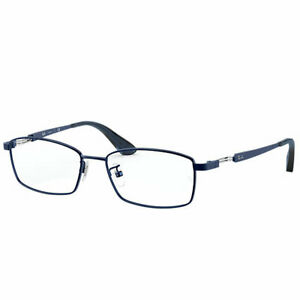Ray Ban Men's Eyeglasses Blue Titanium Frame 8745D 1061 55