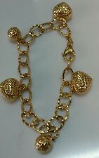 """18k Yellow Gold  Diamond Cut Bracelet 6.5 Grams women - 7"""""""