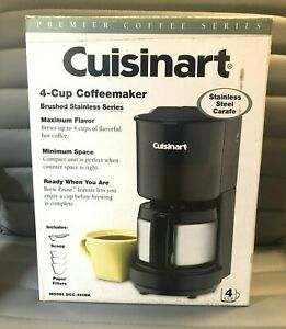 Cuisinart Premier 4-Cup Coffeemaker Black w Stainless Carafe DCC-450BK  FREE SHP