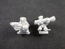 Classic Citadel Metal Dwarf War Machines : Fire Thrower / Flame Cannon Team (2)