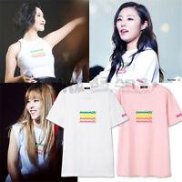 KPOP MAMAMOO MOOSICAL Concert T-shirt Unisex New Moon Byul Tshirt Short Sleeve