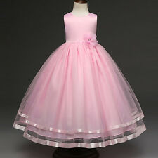 Flower Girl Kid Princess Wedding Dress Pageant Birthday Party Bridesmaid Dresses