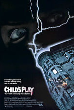 "CHILDS PLAY Movie Poster Horror Chucky Silk Fabric Movie Poster 24""x36"""