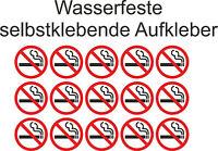 Nicht Rauchen Aufkleber Verboten Rauchverbot Nichtraucher Sticker 5cm ab 10Stück