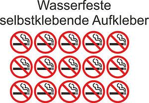 5cm Aufkleber Nicht Rauchen verboten Rauchverbot Nichtraucher Sticker ab 10Stück