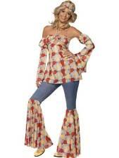 VINTAGE HIPPY 1970'S COSTUME, 1970'S DISCO FANCY DRESS, MEDIUM 12-14, GIRLS #AU