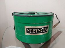 Vintage Stetson Hat Box Green Foil Label