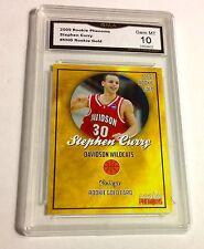 $150.00 STEPHEN CURRY Rookie GOLD Gem Mint 10 Warriors 2009 Golden State #30 MVP